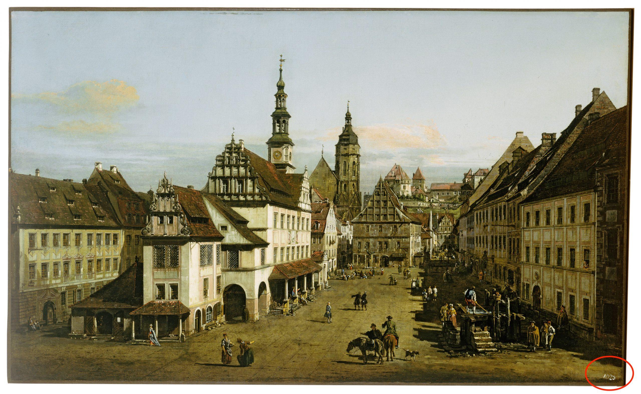 Bernardo Bellotto, The Marketplace at Pirna (c. 1764).