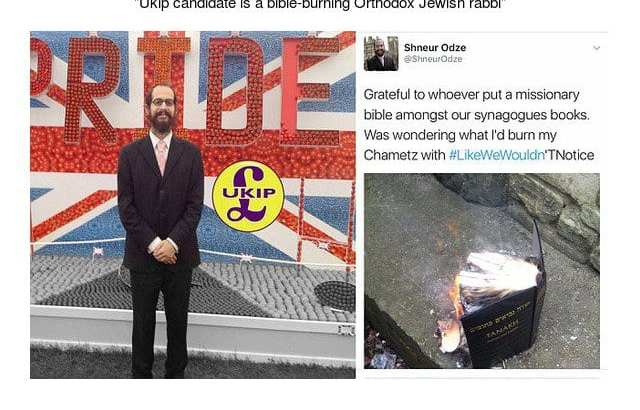 UK Friends of Israel chair apologizes for burning New Testament