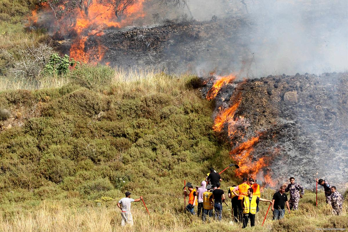MEMO: Jewish settlers burn Palestinian farms in Nablus