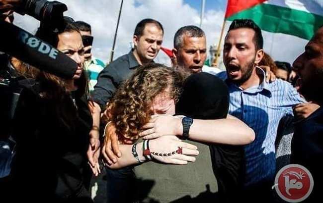Palestinian icon Ahed al-Tamimi tastes freedom