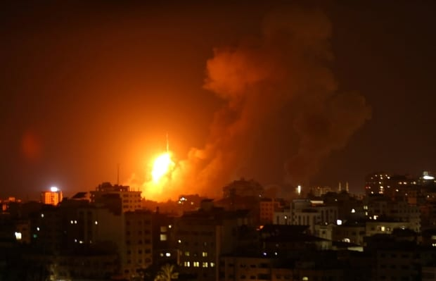 Israeli airstrikes kill Palestinian in northern Gaza, wound 8 others