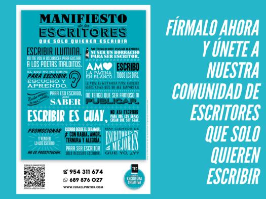 Manifiesto de los escritores que solo quieren escribir Taller de Escritura Creativa de Israel Pintor en Sevilla