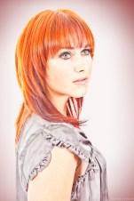 Vrouwelijk model met rood haar