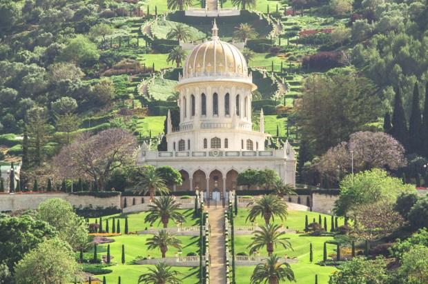 Хайфа Бахайские сады Израиль