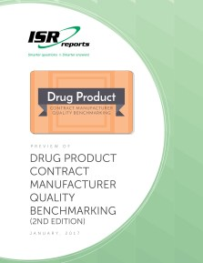 Report cover for Drug Product Contract Manufacturer Quality Benchmarking (2nd edition)