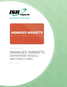 Report cover for Managed Markets: Department Models and Structures