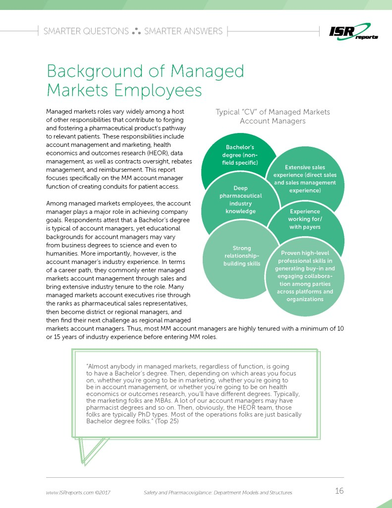 Sample page for Managed Markets: Department Models and Structures