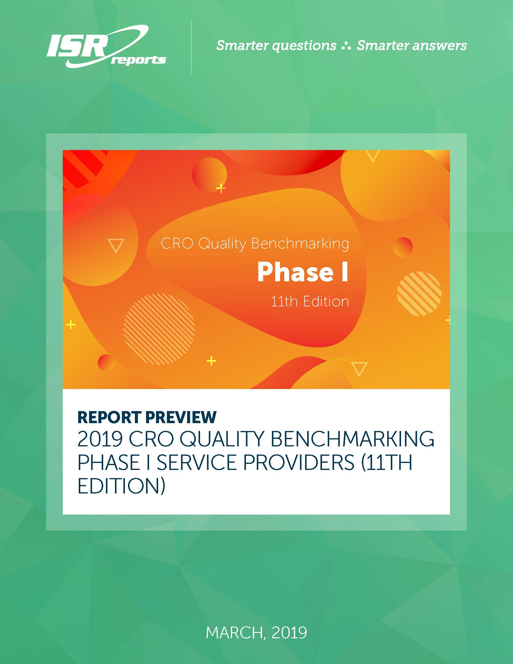 CRO Quality Benchmarking – Phase I Service Providers (11th Edition) report cover