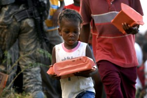 MILITARY RELIEF EFFORTS IN HAITI