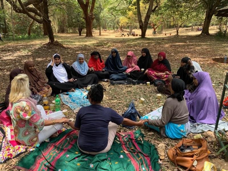 Somalian Refugees in the park