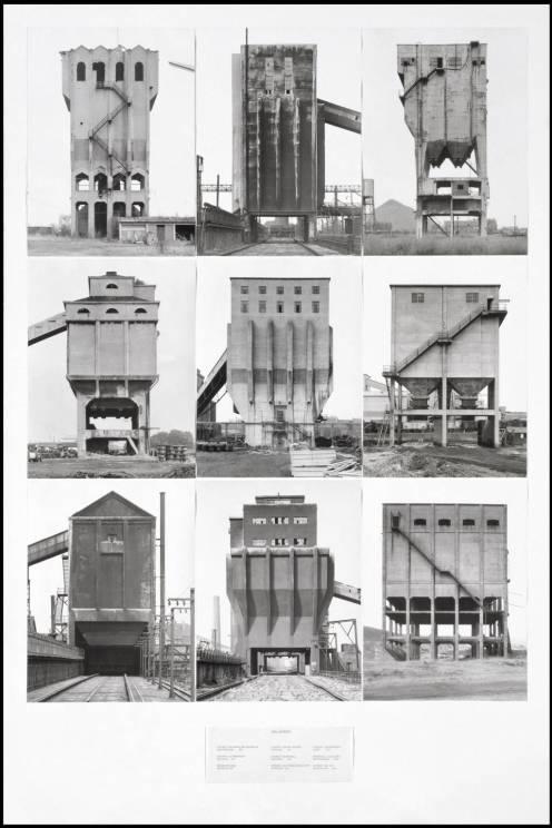 Coal Bunkers 1974 by Bernd Becher and Hilla Becher 1931-2007, born 1934