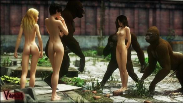 sexo con monos