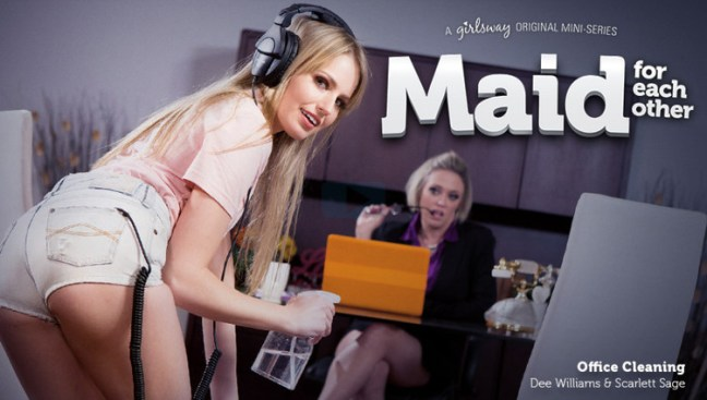 982d8841603645d69569f8d4a6cf36c6 l - Scarlett Sage, Dee Williams - Maid For Each Other: Office Cleaning (2019)