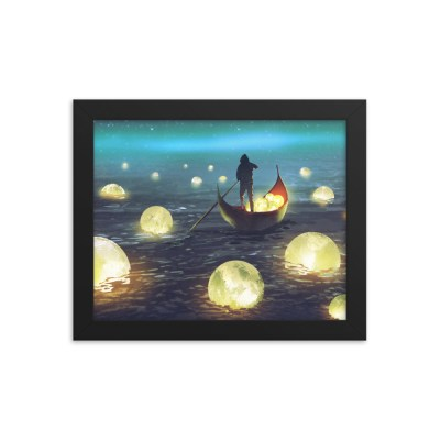 Glowing Moons – Framed poster