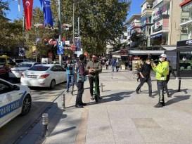 Kadıköy'de elektrikli scooter denetimi