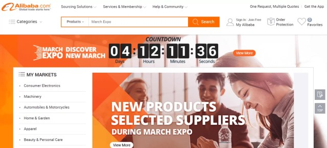 search for drop shipping partners on Alibaba