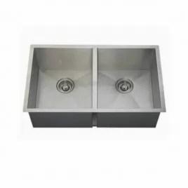 double zero radius stainless steel kitchen sink 16 gauge 50 50