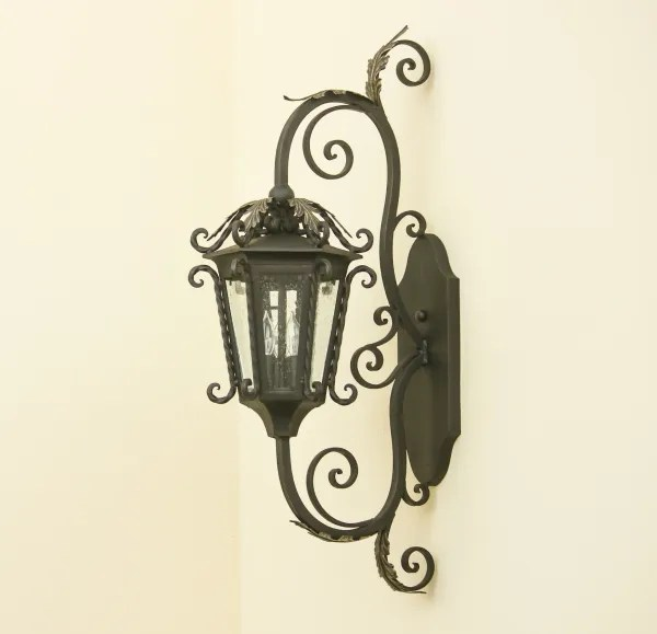 7221 3 mediterranean style wrought iron outdoor wall light