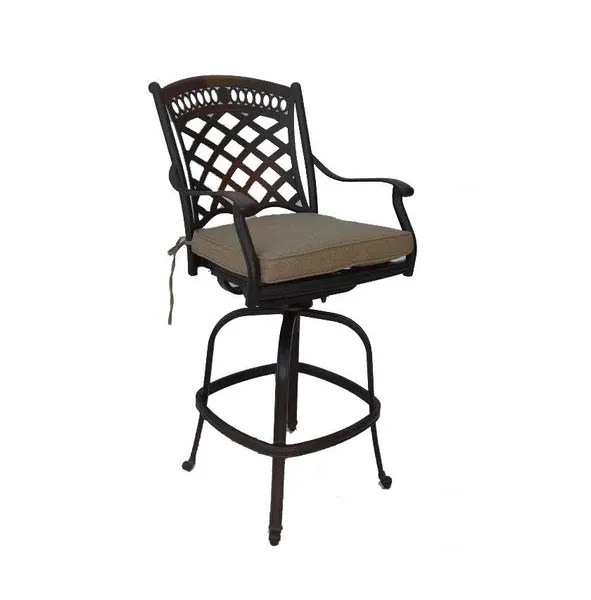 bar height fire pit dining table 9