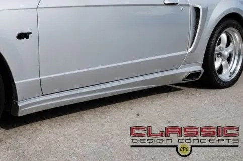 ford mustang 99 04 classic design concepts side exhaust kit
