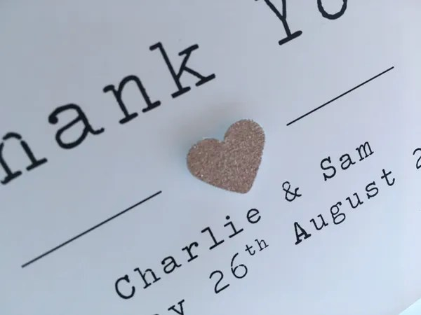 Rosie Personalised Thank You Card Contemporary Card