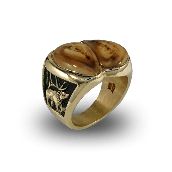 Diamond Elk Ivory Ring Elk Ivory Jewelry
