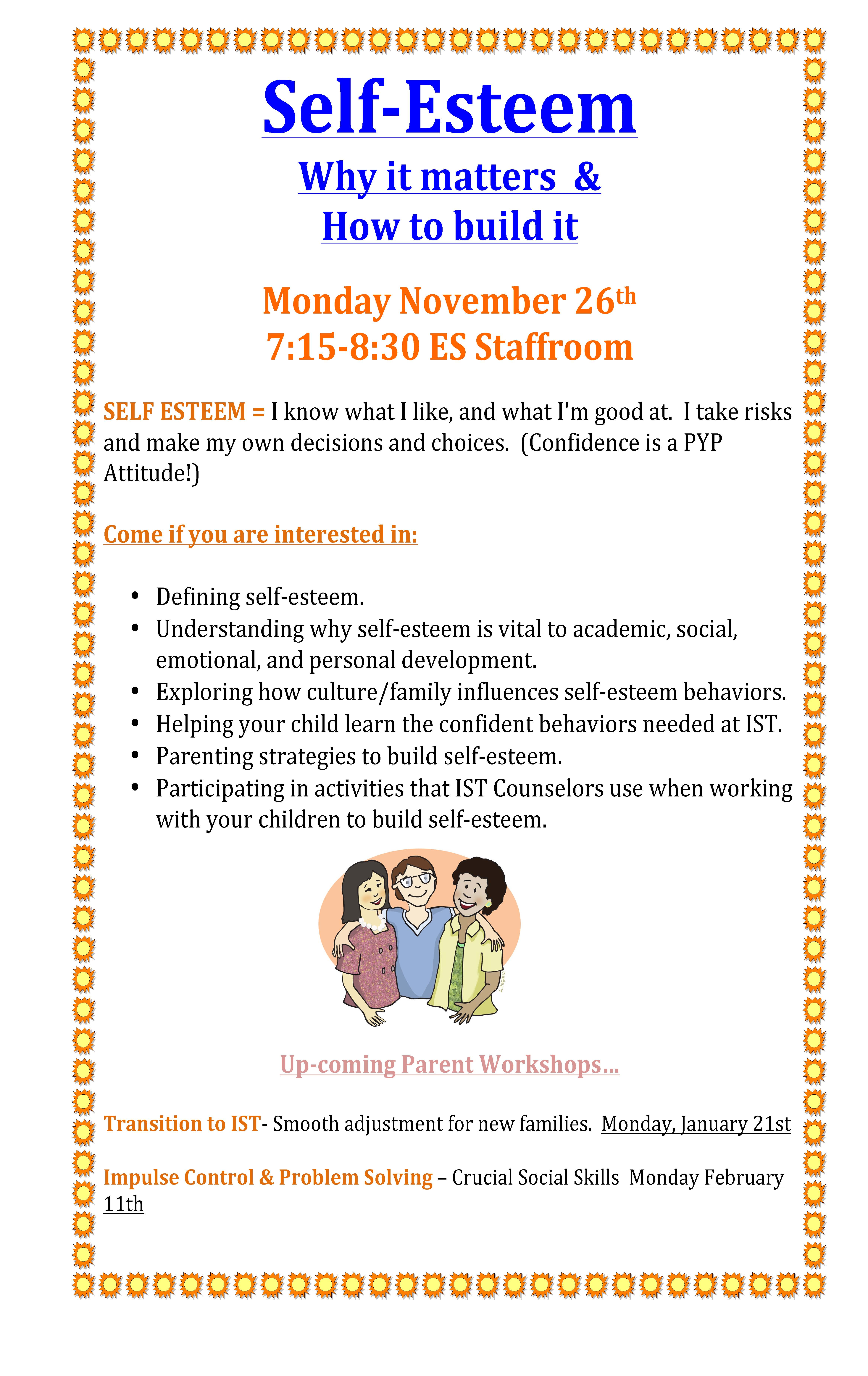 Parent Workshop Self Esteem