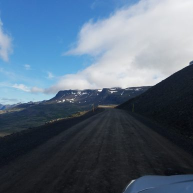 Pitted Iceland roads