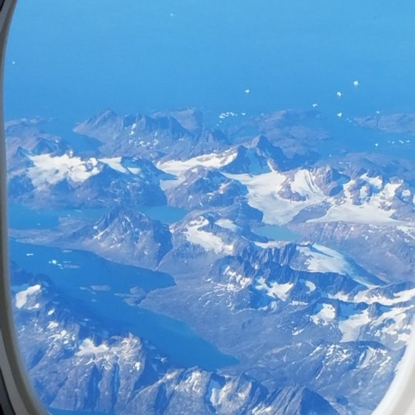 Greenland from the Plane