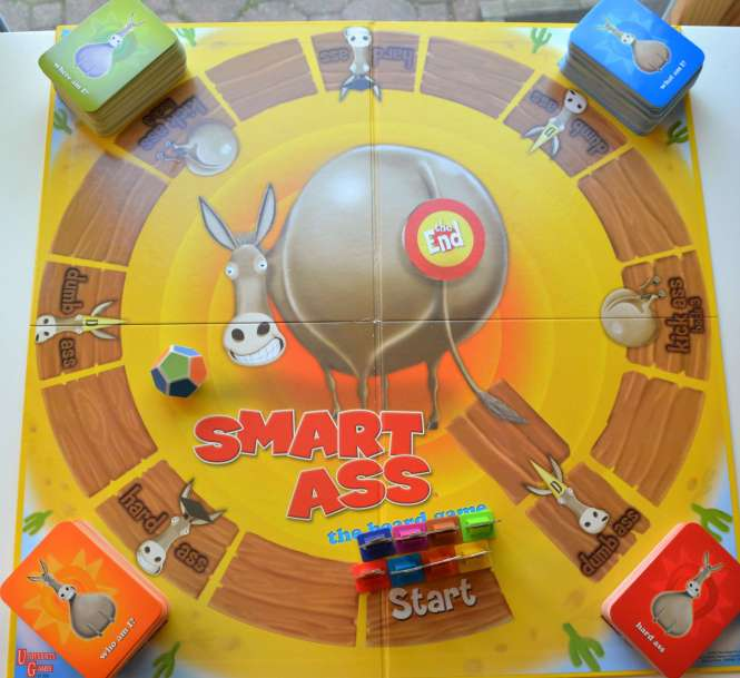 SmartAss Trivia Board Game
