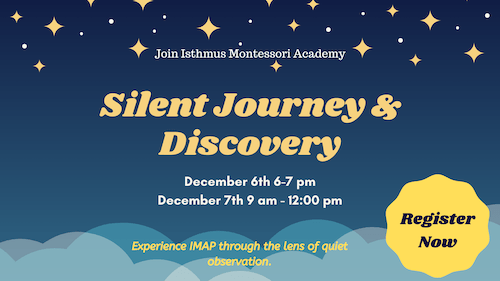 Silent Journey & Discovery event Dec 6 6-7 pm and Dec 7 9-12 pm