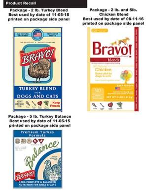 bravo pet food recall