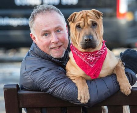 kai dog left at train station with new owner