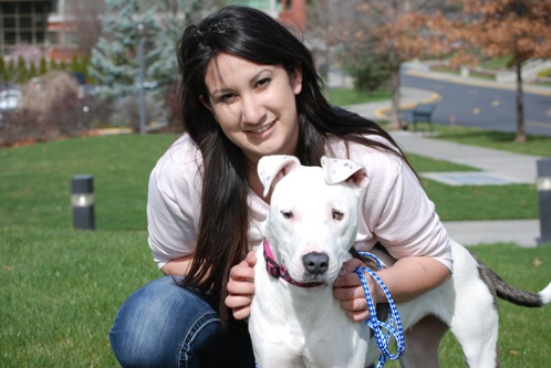 Sara Mellado and Theia, dog who rose from grave