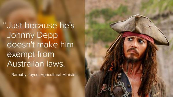 Johnny Depp dogs Australia