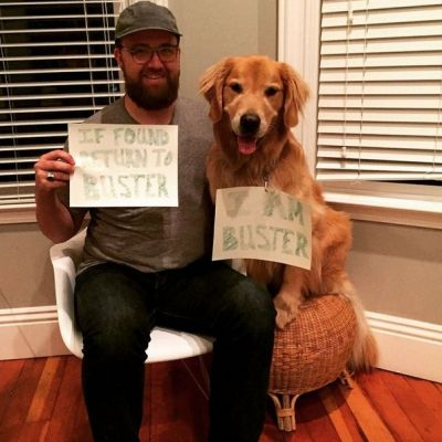 Lost4Dogs Fourth of July campaign Buster