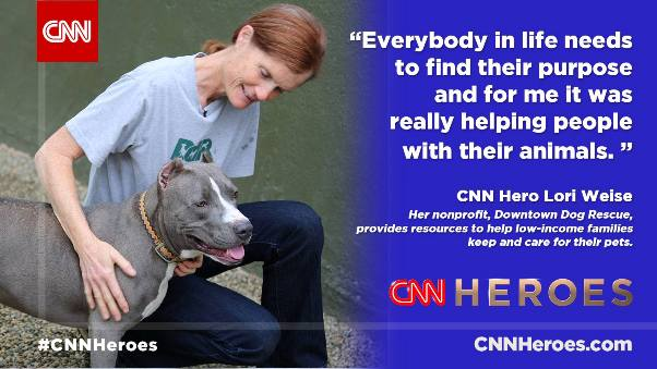 Lori Weise CNN Hero Downtown Dog Rescue