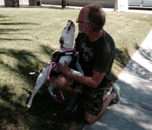 dying homeless veteran reunited with service dog
