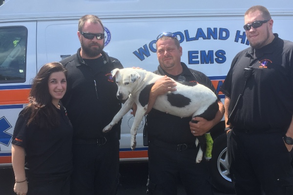 Ophelia and Woodland Hills EMS crew