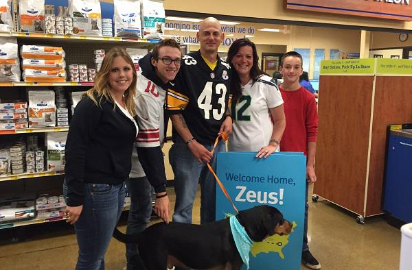 zeus dog thought dead reunited with military family
