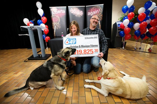 dogs make mess and owners win lottery