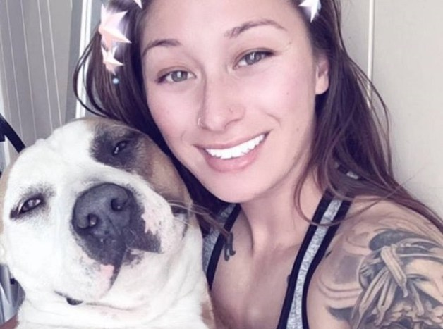 California woman flees wildfire with dog in duffel bag