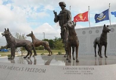 US War Dog Memorial monument