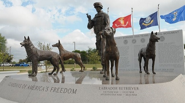US War Dog Memorial monument