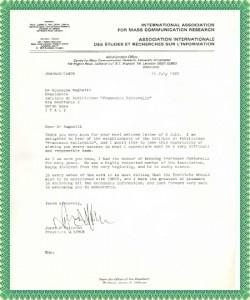 Lettera Fattorello Presidente IAMCR