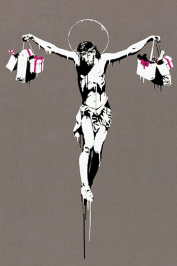 Jesus-Christ-With-Shopping-Bags-by-Banksy