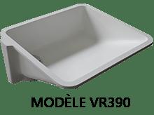 Modèle VR390 : vasques aux normes PMR