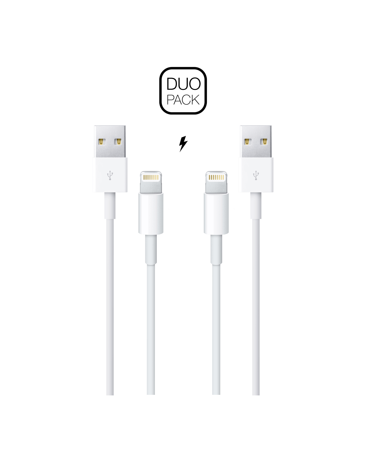 Duo Pack Lightning To Usb Cable 1m Istore