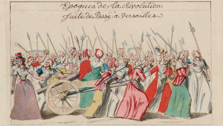 La marcia delle donne a Versailles durante la Rivoluzione Francese