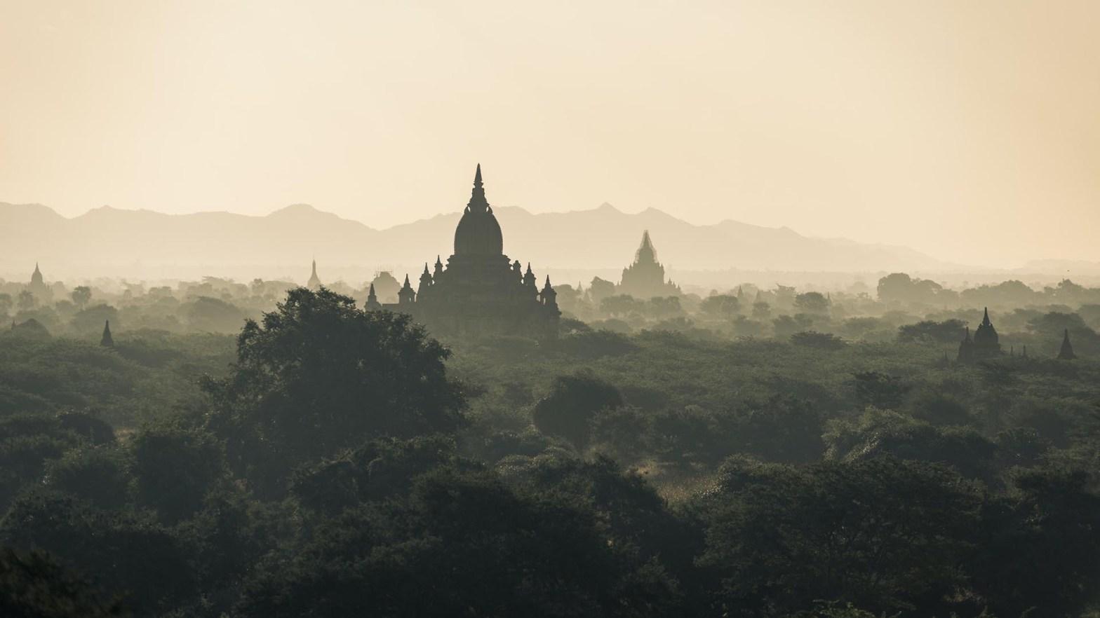 La città di Bagan in Myanmar